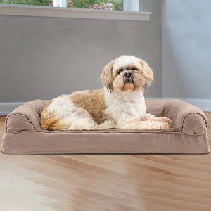 Furhaven Pet Dog Bed - Orthopedic Ultra Plush Faux
